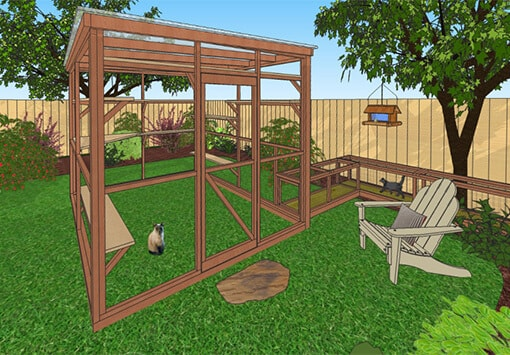 oasis 8x10 catio diy catio plan cat enclosure catiospaces