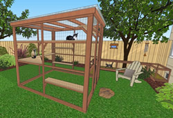 catio cat enclosure diy catio plan oasis 8x8 catiospaces
