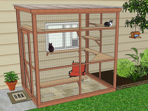 sanctuary6x8 catio diy catio plan cat enclosure catiospaces
