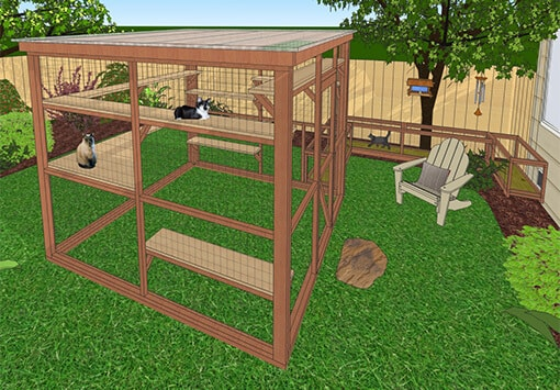 oasis 8x8 catio diy catio plan cat enclosure catiospaces