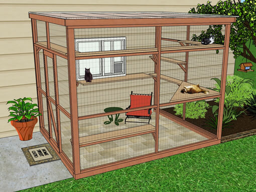 sanctuary 8x10 catio diy catio plan cat enclosure catiospaces