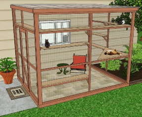 catio diy catio plan cat enclosure Sanctuary 8x10 catiospaces