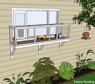 large window box catio diy catio plan cat enclosure catiospaces