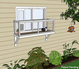medium window box catio diy catio plan cat enclosure catiospaces
