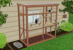 catio cat enclosure diy catio plan haven 4x8 catiospaces