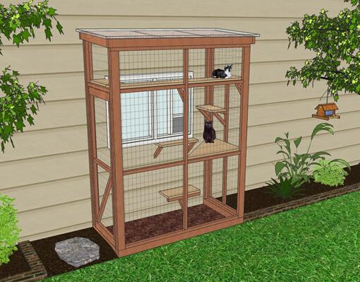 haven 3x6 catio diy catio plan cat enclosure.catiospaces