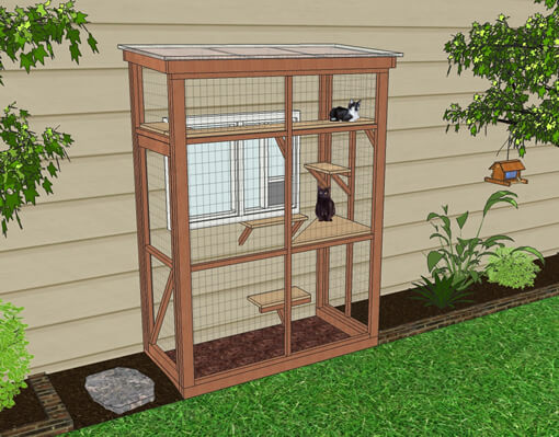 haven 3x6 catio diy catio plan cat enclosure catiospaces