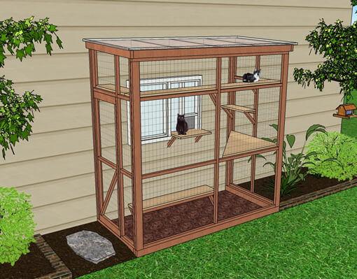 haven 4x8 catio diy catio plan cat enclosure.catiospaces
