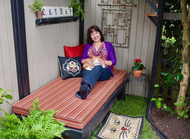 Catios Cat Enclosure Catnap Interior Cynthia Chomos With Tabby Serena Catiospaces