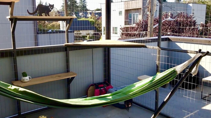 Catio Cat Enclosure Urban Deck Hammock Catiospaces