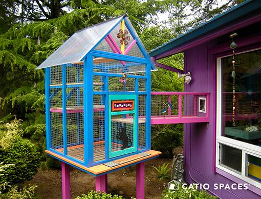 Catio Cat Enclosure Colorful Catio Decor 510 Wm