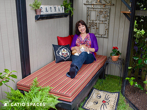 Catio Cat Enclosure Cynthia Chomos Catnap Catio With Serena Catiospaces 510 Wm