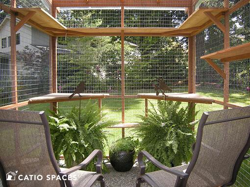 Catio Cat Enclosure Interior Seating Catiospaces 510 Wm