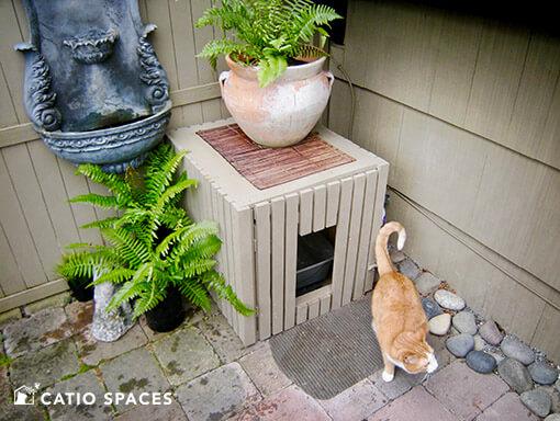 Catio Cat Enclosure Litter Box Serena Sanctuary Catiospaces 510 Wm