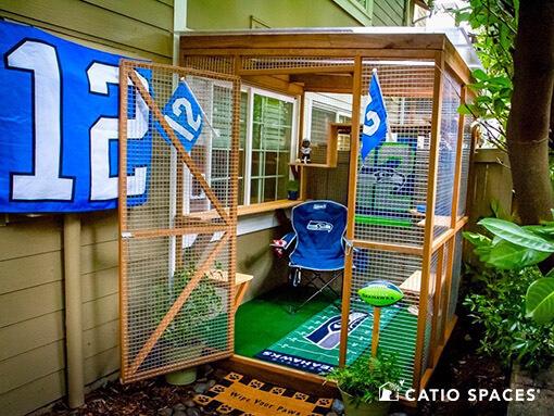 Catio Cat Enclosure Seahawks Ext Theme Catiospaces 510 Wm