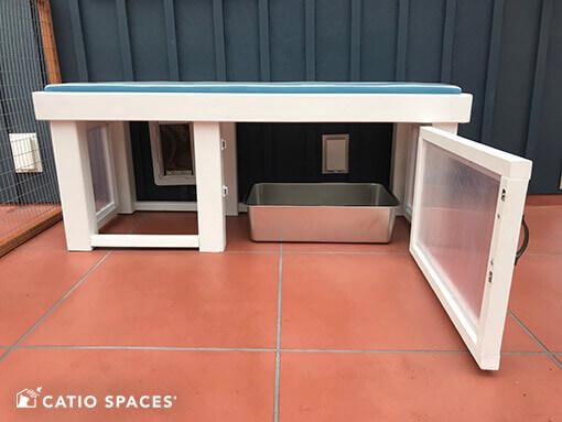 Catiospaces Decorating Catio Diy Catios Litterbox