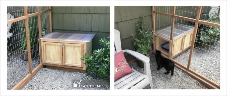 Catio Cat Enclosure Litter Box Diy Plan Catiospaces 2 Views