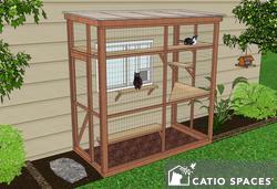 Catio Cat Enclosure Diy Catio Plan Haven 4x8 Catiospaces