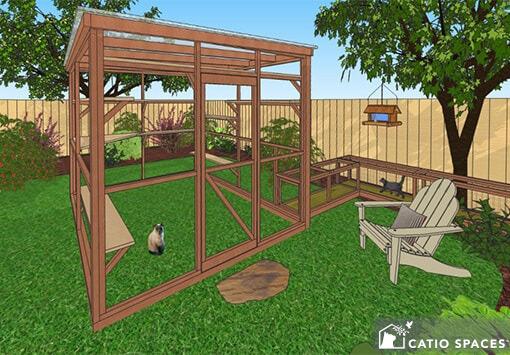 Catio Cat Enclosure Diy Catio Plan Oasis 8x10 Catiospaces.com 1