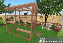 Catio Cat Enclosure Diy Catio Plan Oasis 8x8 Catiospaces.com