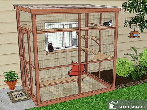 Catio Cat Enclosure Diy Catio Plan Sanctuary 6x8 Catiospaces 1a