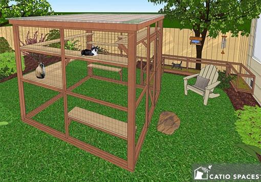 Catio Cat Enclosure Diy Plan Oasis 8x10 Catiospaces