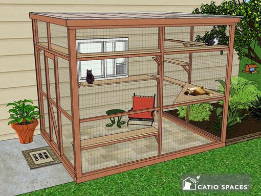 Catio Cat Enclosure Diy Catio Plan Sanctuary 8x10 Front Fb Catiospace 1s