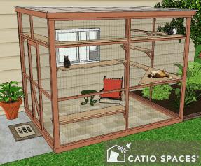 Catio Diy Catio Plan Cat Enclosure Sanctuary 8x10 Catiospaces 1