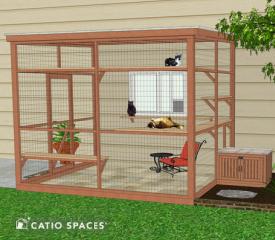 Catio Litter Box Diy Exterior Sanctuary 510 Wm Catiospaces 2