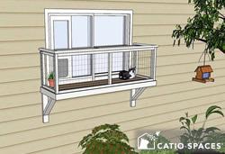 Catio Window Box Cat Enclosure Diy Catio Plan Medium Catiospaces.com