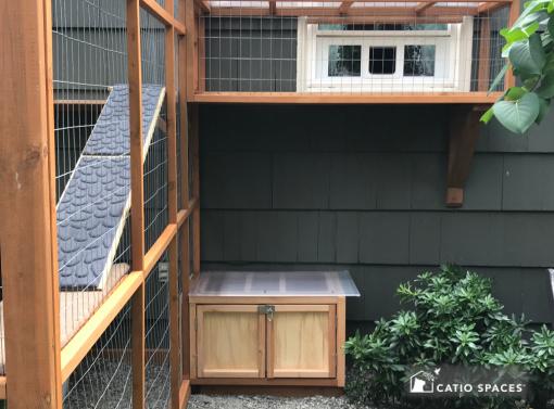 Catiospaces Cat Enclosures Catio Diy Plan Litter Box 1