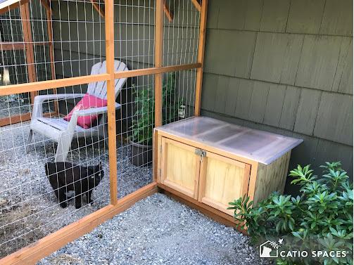 Catiospaces Cat Enclosures Catio Diy Plan Litter Box 2