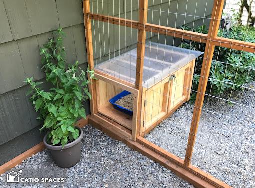Catiospaces Cat Enclosures Catio Diy Plan Litter Box 3