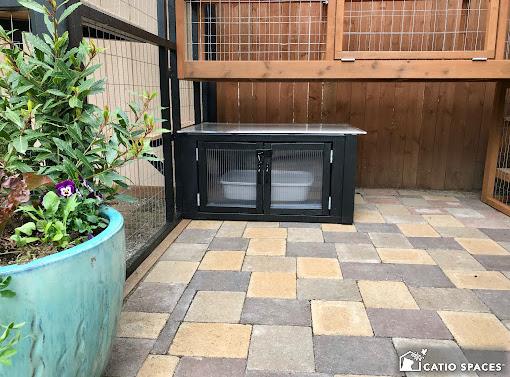 Catiospaces Cat Enclosures Catio Diy Plan Litter Box 4