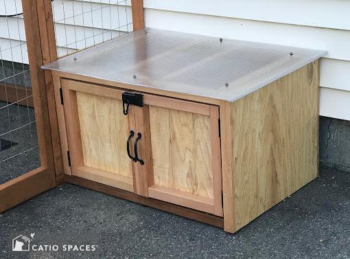 Catiospaces Cat Enclosures Catio Diy Plan Litter Box 6