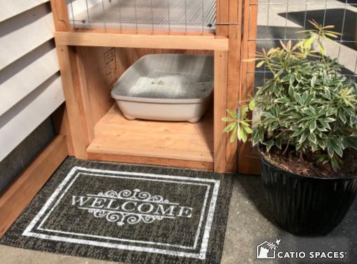 Catiospaces Cat Enclosures Catio Diy Plan Litter Box 7