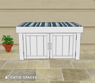 Catiospaces Cat Enclosures Diy Litter Box Bench Plan 1
