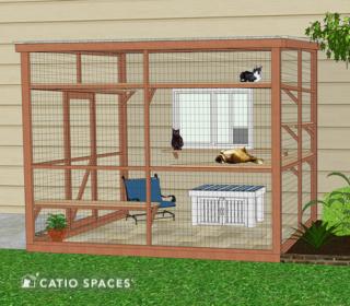 Catiospaces Cat Enclosures Diy Litter Box Bench Plan Exterior 1