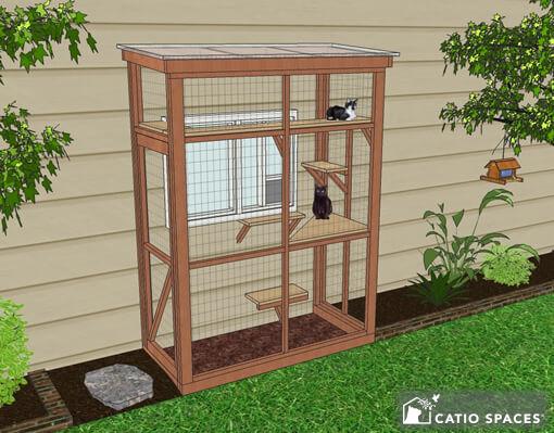 Haven 3x6 Catio Diy Catio Plan Cat Enclosure.catiospaces1