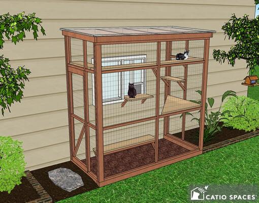 Haven 4x8 Catio Diy Catio Plan Cat Enclosure.catiospaces1