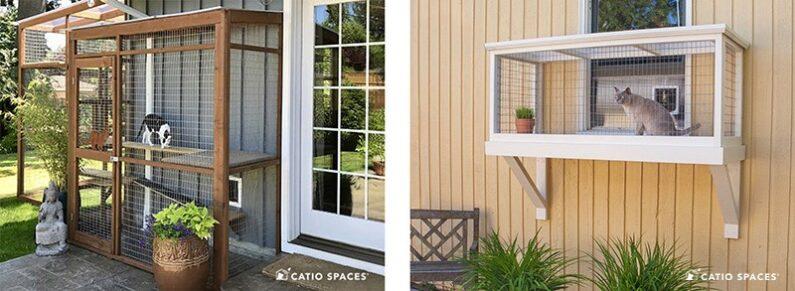 Catio Cats Enclosure Exteriror Window Patio Doors Catiospaces