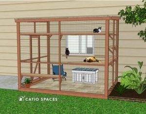 Catio Bench Litter Box Diy Exterior Sanctuary 510 Wm Catiospaces