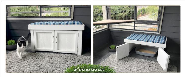 Litter Box Bench Diy Catio 2 Up Catiospaces