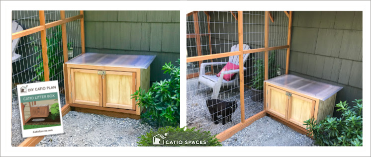 Litter Box Catio 2 Up Photo With Cover Exterior Catiospaces