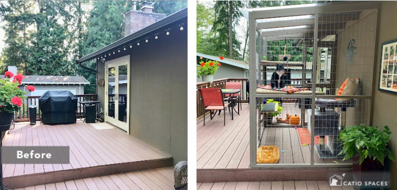 Catio Deck 2 Up Before After Cassie Wm Catiospaces